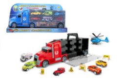 16 Bulk TRUCK WITH CARRY CASE PLAY SET