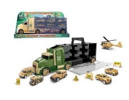 16 Bulk MILITARY TRUCK WITH CARRY CASE PLAY SET