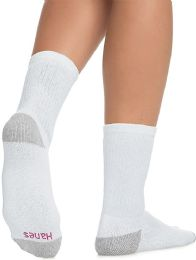 60 Bulk Hanes Crew Sock For Woman Shoe Size 4-10 White