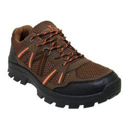 12 Bulk Men's Lightweight Hiking Boots In Brown
