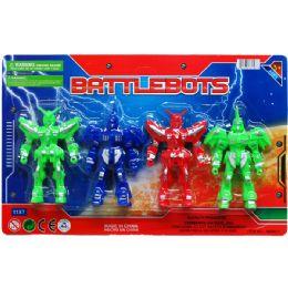 48 Bulk 4 Piece Battle Bots Action Figure