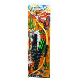 24 Bulk BOW AND ARROW PLAY SET IN PEGABLE POLY BAG
