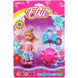 72 Bulk ELSIE DOLL WITH ACCESORIES ON BLISTER CARD