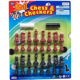 48 Bulk CHESS AND CHECKERS PLAY SET
