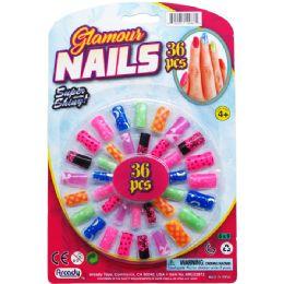 144 Bulk Toy Nails Play Set On Blister Card