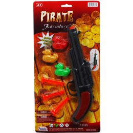 48 Bulk PIRATE SOFT DART GUN WITH TARGET