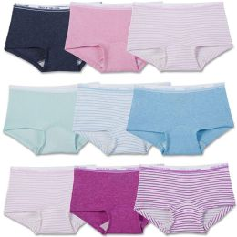 144 Bulk Girls Fruit Of The Loom Boy Shorts Underwear Briefs and Panty Assorted Sizes 4-14