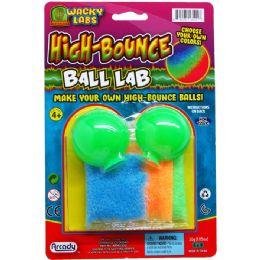 72 Bulk High Bounce Ball Lab Kit On Blister Card
