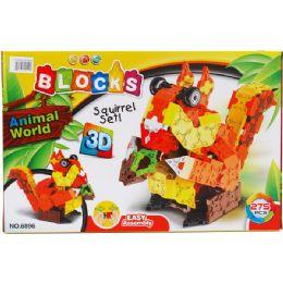 24 Bulk Squirrel Block Play Set In Color Box