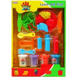 12 Bulk Creative Plasticine Play Set In Window Box