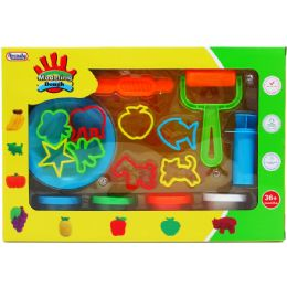 18 Bulk Creative Plasticine Playset In Window Box