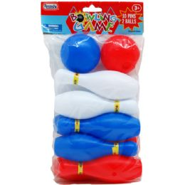 48 Bulk MINI BOWLING PLAY SET IN POLY BAG