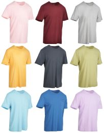 27 Bulk Yacht & Smith Mens Assorted Color Slub T Shirt With Pocket - Size S