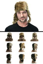 12 Bulk Assorted Fur Colors Trapper Hat