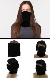 24 Bulk One Size Fits Most Adjustable Fit Fleece Neck Gaiter
