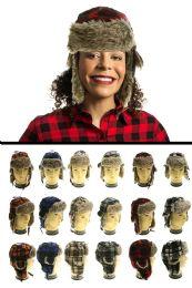 12 Bulk Plaid Trapper Hat