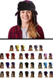 12 Bulk Sizes Vary Plaid Trapper Hat