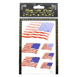 360 Bulk American flag temporary tattoos