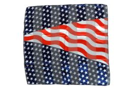 96 Bulk Wavy American Flag Scarf Made Of Silky And Sheer Polyester