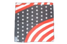 96 Bulk American Flag Scarf Made Of Silky And Sheer Polyester