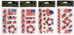96 Bulk Patriotic Tattoos
