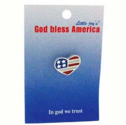96 Bulk PATRIOTIC FLAG PIN