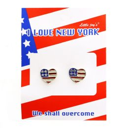 96 Bulk PATRIOTIC FLAG EARRING