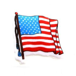96 Bulk Patriotic American Flag Stickers