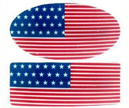 144 Bulk FLAG HAIR BARRETTE