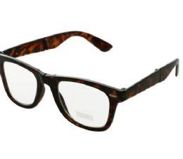 36 Bulk Uv 400 Folding Frame Tortoise Shell Round Sunglasses