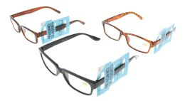48 Bulk Assorted Acrylic Rectangular Reading Glasses