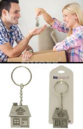 96 Bulk Silver Tone House Key Chain