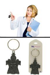 96 Bulk God Bless Nurses Inspirational Key Chain