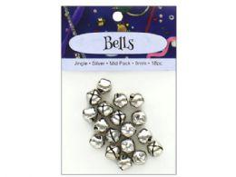 108 Bulk 18pc Silver Jingle Bell Value Pack
