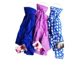 90 Bulk 1 Count Scarf in Blue and Purple Assorted Colors
