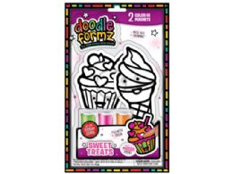 36 Bulk DoodleFormz Do-It-Yourself Cupcake Themed Art Kit with Magnets