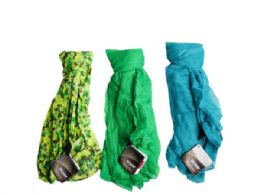90 Bulk 1 Count Scarf in Green and Blue Assorted Colors