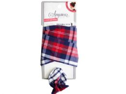 60 Bulk 1 Count Wire Head Scarf in Assorted Plaid