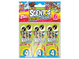 72 Bulk 24 Scentos Scented Crayon Value Pack With 6 Packs Of 4 Crayons