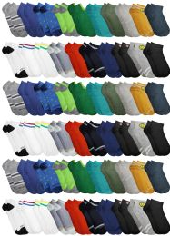 60 Bulk Yacht & Smith Boys Colorful Fun Printed Thin Lightweight Low Cut Ankle Socks