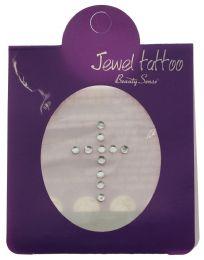96 Bulk Crystal Tattoo In The Shape Of A Cross