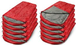 10 Bulk Yacht & Smith Temperature Rated 72x30 Sleeping Bag Solid Red