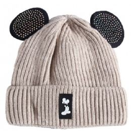 36 Bulk Kids Hat With Fur In Assorted Color