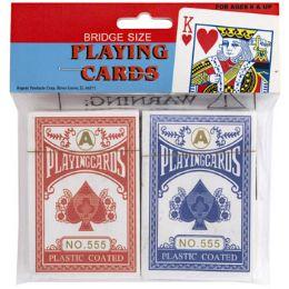 72 Bulk Playing Cards 2pk Coated Pbh Bridge Size