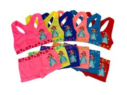 36 Bulk Girl's Seamless Racer Back Bra + Boxer Set (Ariel)