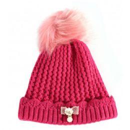 36 Bulk Kids Winter Hat With Fur