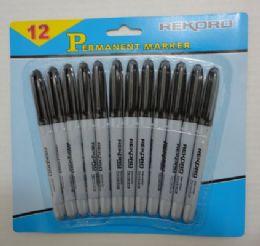 25 Bulk 12pc Black Marker