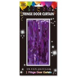 72 Bulk Fringe Door Curtain In Purple