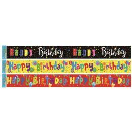 96 Bulk Birthday Foil Banner In Yellow