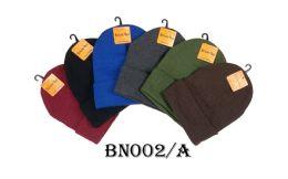 48 Bulk Beanie Hat Assorted Colors
